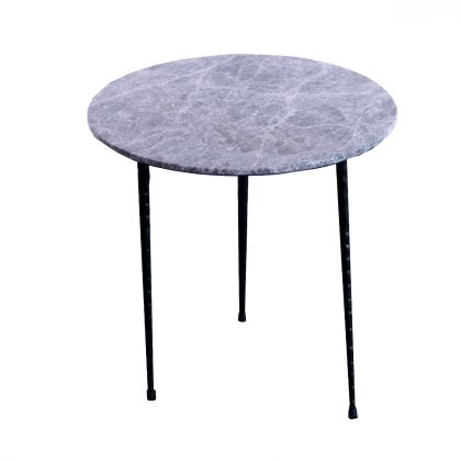 Side table Mauritz - Grey Marble - 40x40x40m