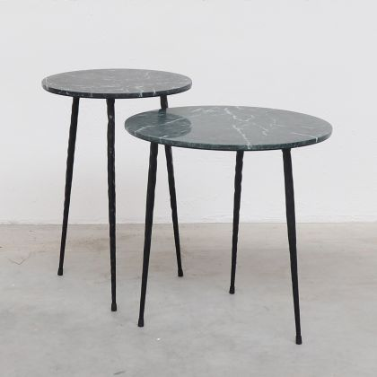 Side table Mauritz - Green Marble - 40x40x40cm