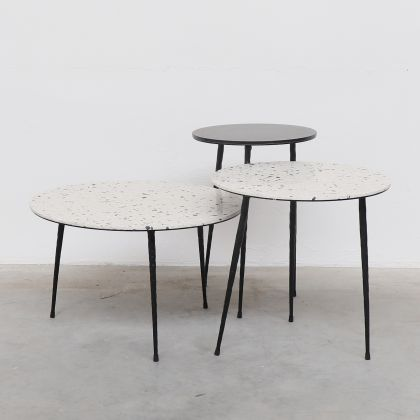 Side table Mauritz - Black Marble - 32x32x45cm