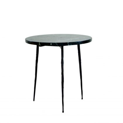 Side table Florence - Green Marble - 40x40x40cm