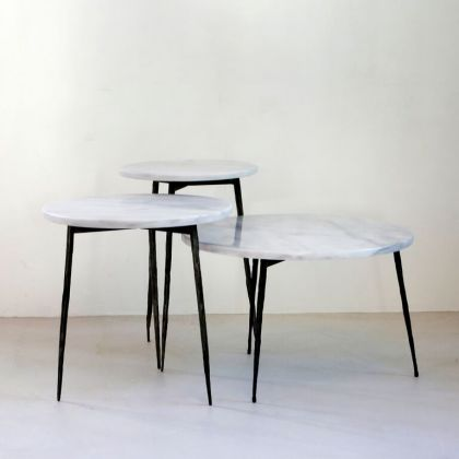 Side table Florence - Greek White Marble - 32x32x45cm