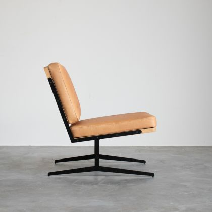 Reading chair - Lucy - Cognac Leather