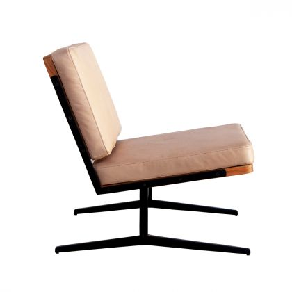 Reading chair - Lucy - Natural Leather