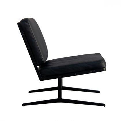 Reading chair - Lucy - Black Leather