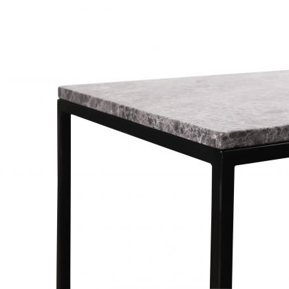 Marble Side table Nora - Grey Marble - 48x38x44cm