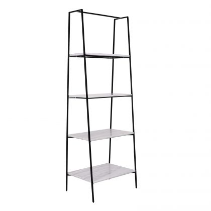 Shelving Unit with marble - Adele - White Marble