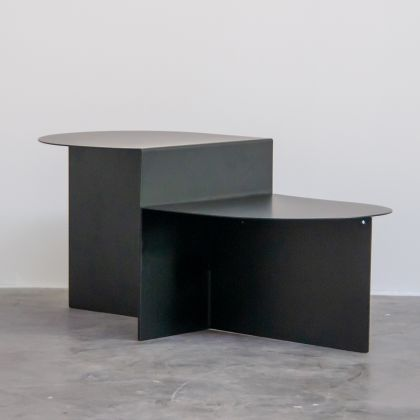 Black Side table with Level - Grace - 75x40x36cm