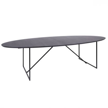 Oval Dining table - Black Wood - 300cm