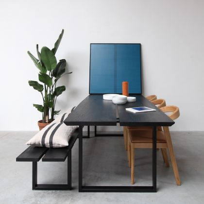 Dining table in Black Wood - Lex - 240cm